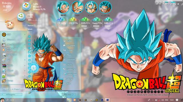 Windows 10 Ver. 1709 Theme Dragon Ball Super by Enji Riz