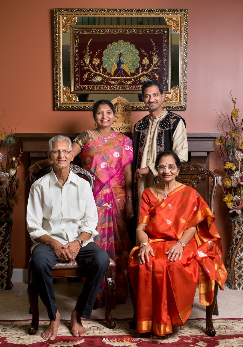 Indian Family Portaits Traditional - Sudeep Studio.com