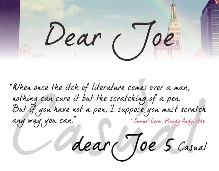 Download Font Handletter Tulisan Tangan Terbaik - Dear Joe 5 Casual Font