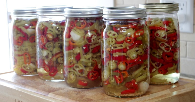 The Nitty Gritty Potager Pickled Hot Peppers