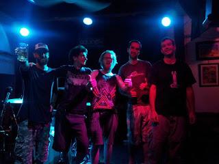 Band photo - Splitter - Sean Barrett -Vocals, Doug Marsden -Lead Guitar, Ryan Wright -Rythm Guitar, Wayne Clowes -Bass, Henrick Rasmussen / Boom Baar- Drums