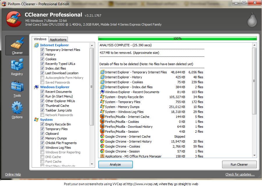 ccleaner for xp 520 epson printer