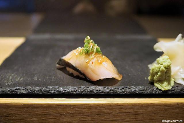 Spanish Mackerel Sushi at DOMODOMO in New York City
