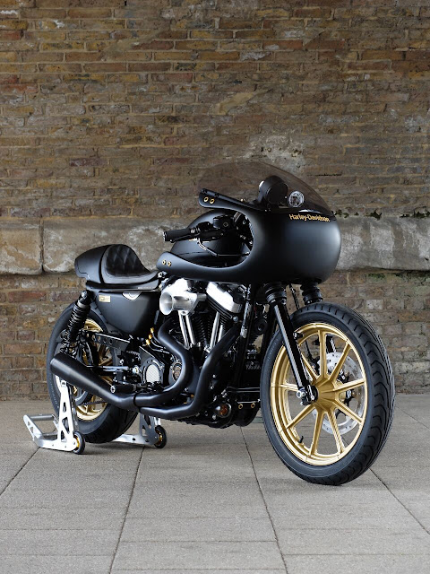 Racing Caf U00e8  Harley Sportster  U0026quot Rascal Racer U0026quot  By Warr U0026 39 S