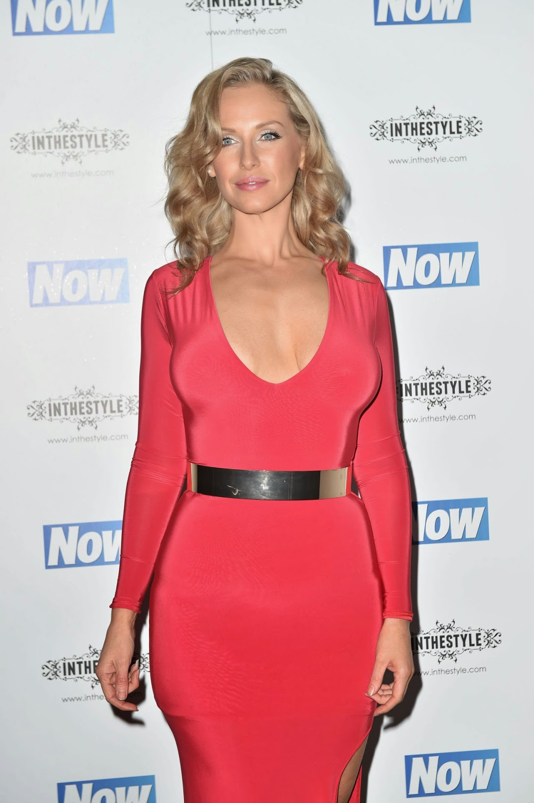Josie Gibson shows weight loss at the NOW Christmas party in London