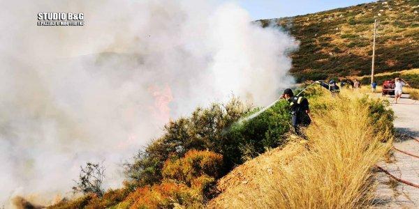 Παραλίγο παρανάλωμα από πυρκαγιά στην Επίδαυρο