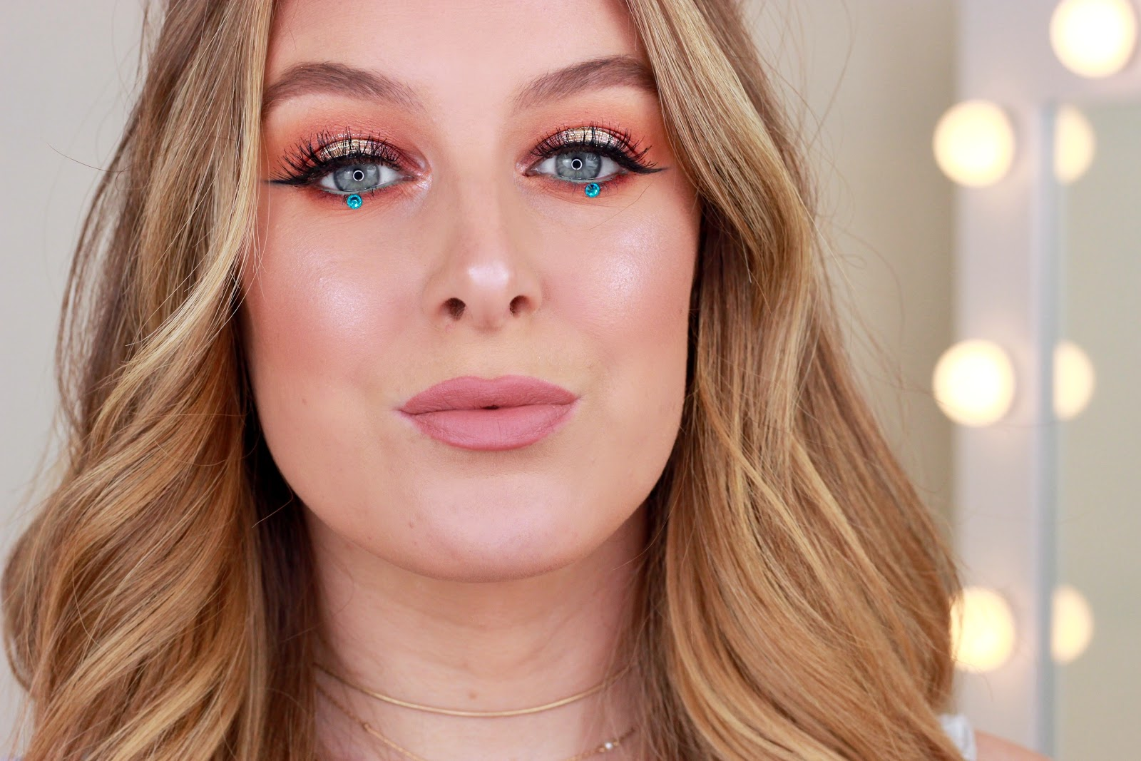 sunset smokey eye makeup tutorial