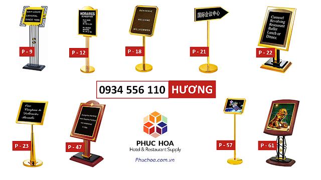Biển chỉ dẫn cho nhà hàng, bảng chỉ dẫn cho khách sạn sang trọng ở Hà Nội