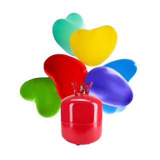 Bombona de Helio Maxi con 50 Globos Corazón