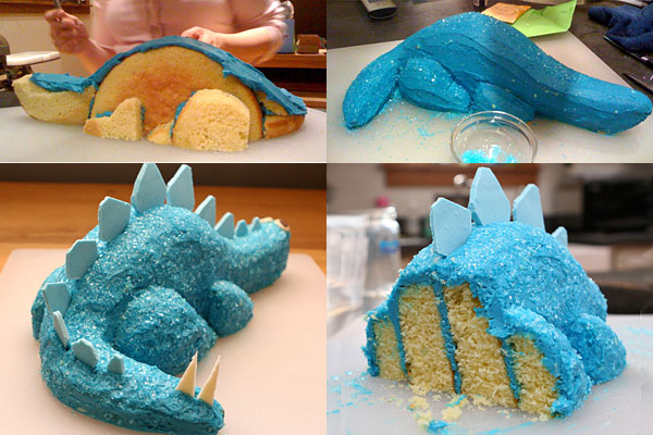 The sahmnambulist birthday cake fail 2012 for How to make a dinosaur cake template