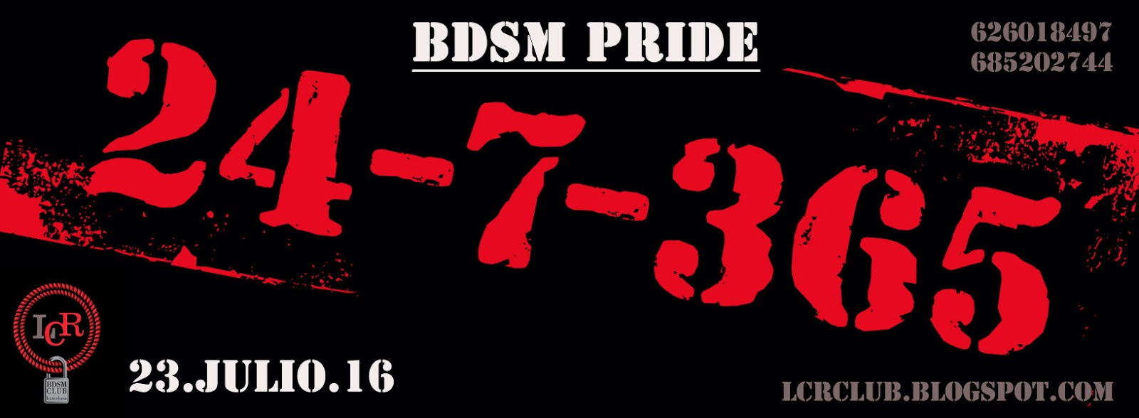 Fiesta BDSM Pride 24/7 en LCR Club (Barcelona)