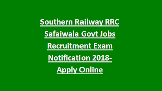 Southern Railway RRC Safaiwala Govt Jobs Recruitment Exam Notification 2018-Apply Online @rrcmas.in, Physical Tests