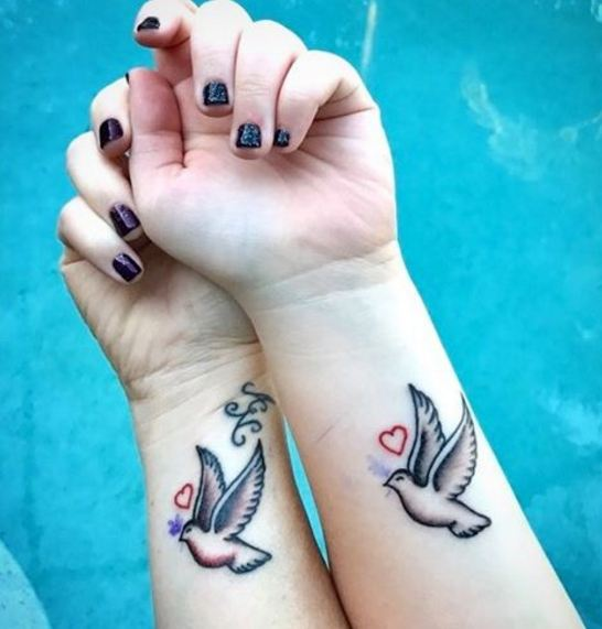 tiny Mother Daughter Tattoos