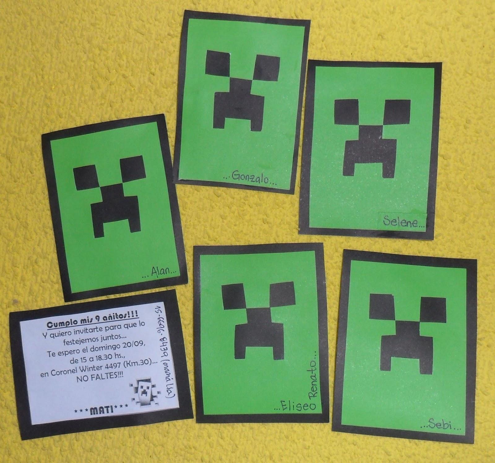 Trabajos Artesanales Estrella Vani Cumpleaños Minecraft