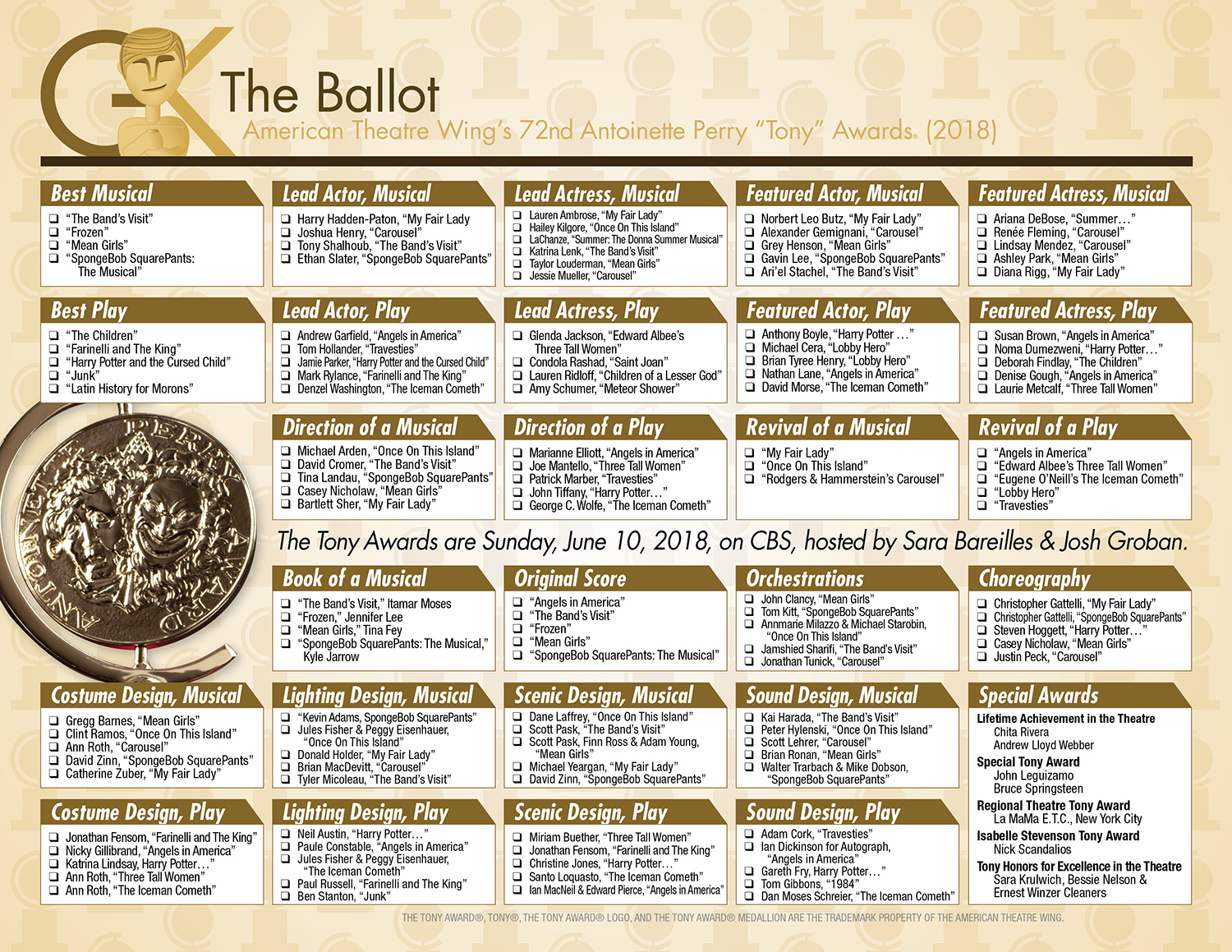 Download our ballot