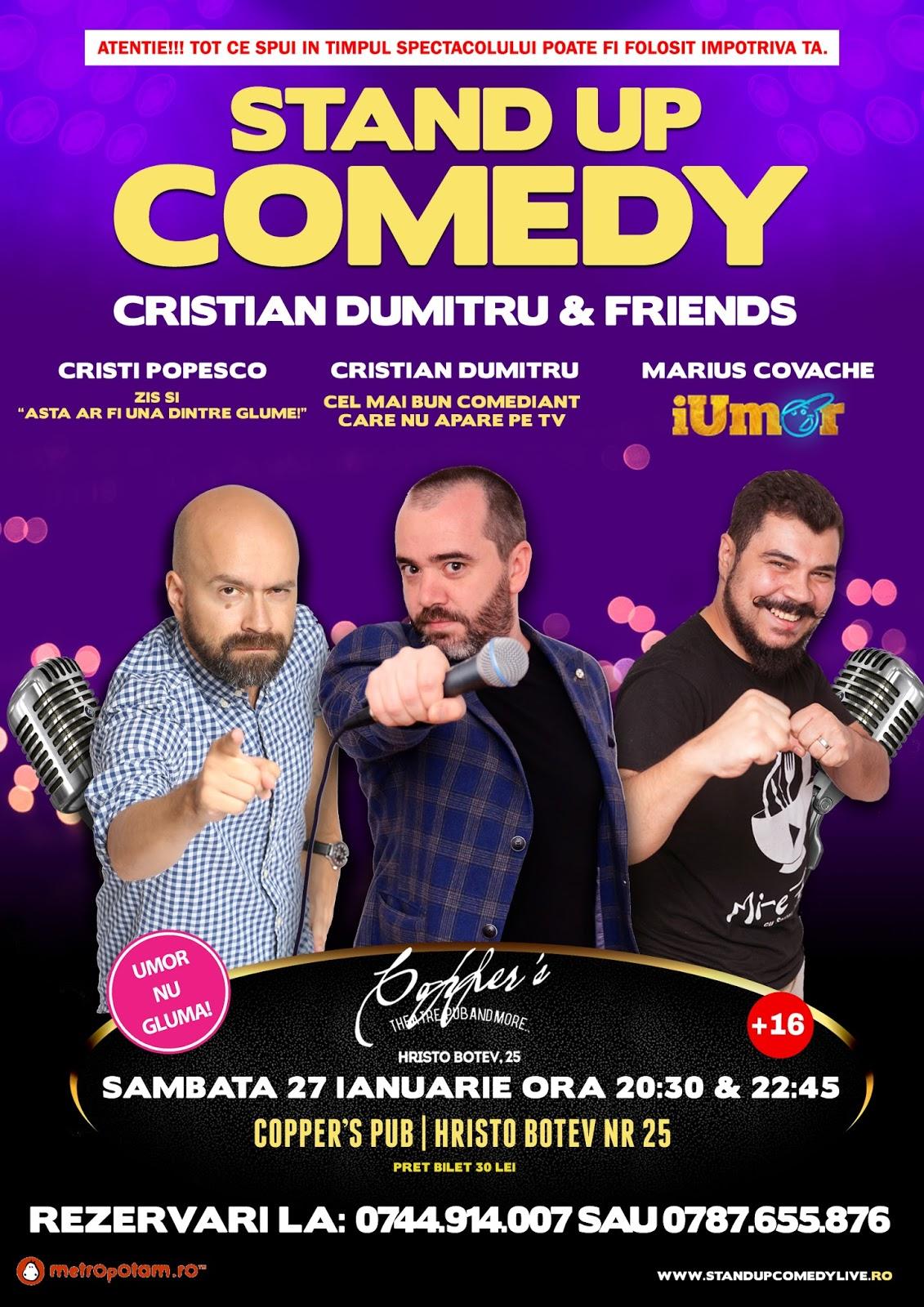 Stand-Up Comedy Bucuresti Sambata 27 ianuarie