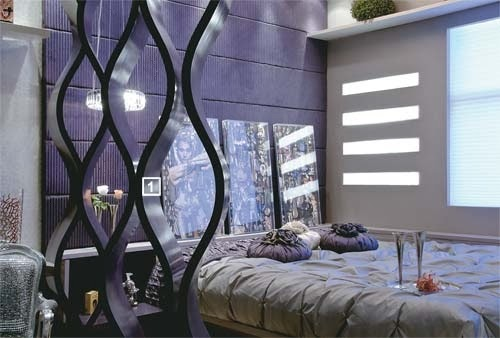 quartos de casal dormitorios morados
