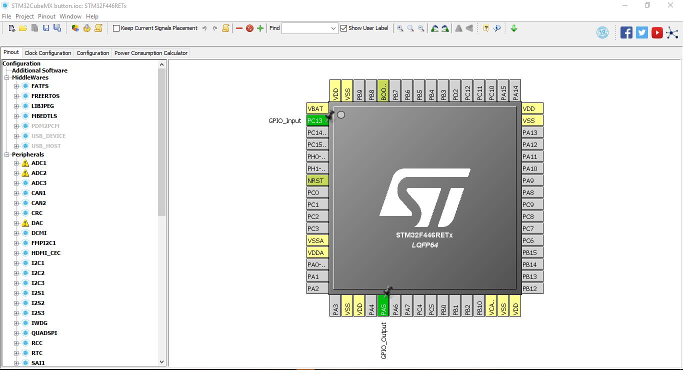 Tutorial STM32, Cara Mengakses Button LED, STM32Cube dan Keil
