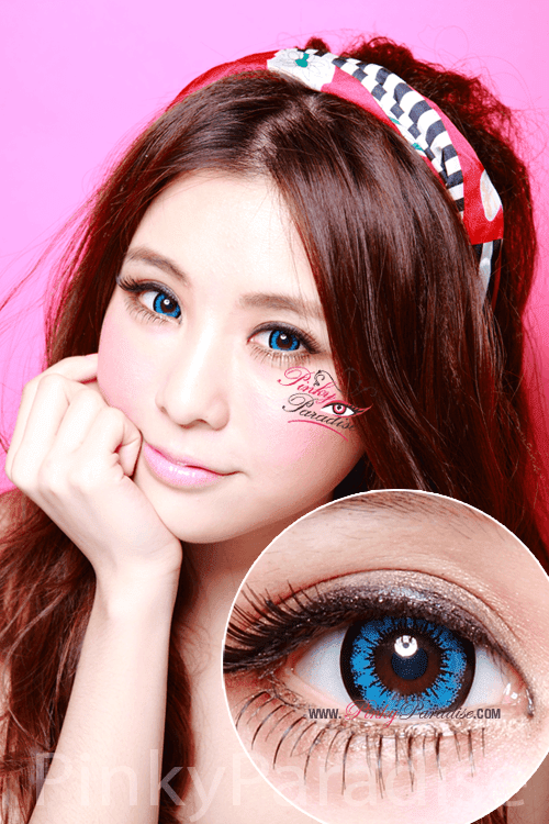 Geo Super Size Angel Blue Circle Lenses (Colored Contacts)