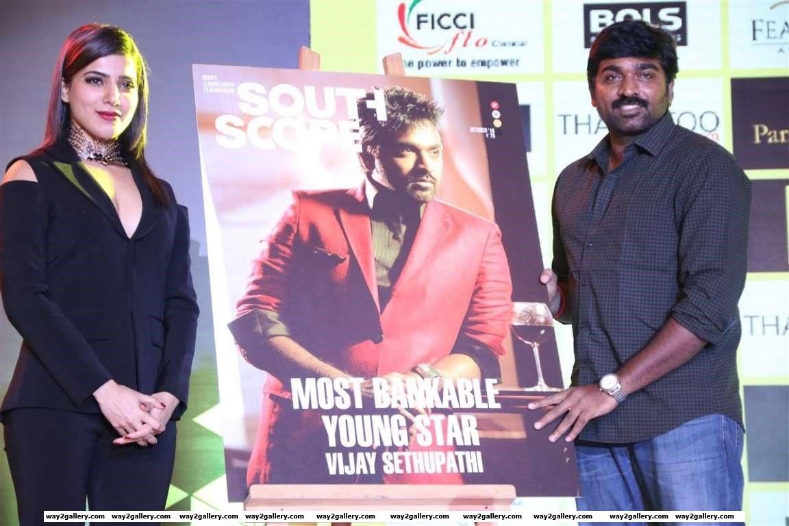 Vijay Sethupathi and Samantha Ruth Prabhu were present at South Scope Lifestyle Awards