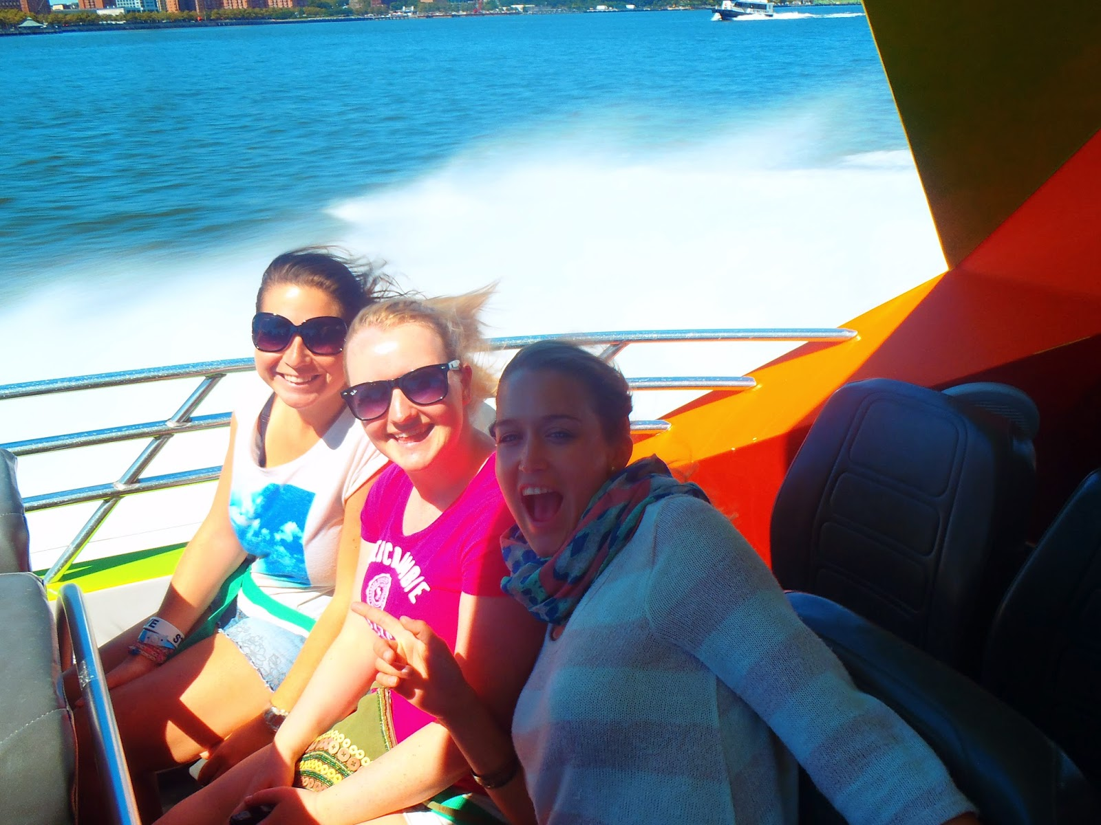 us all on the speed boat