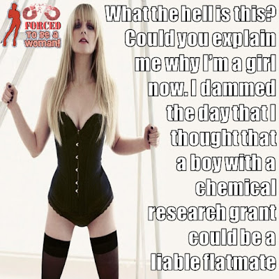 Transformed by your flatmate TG Caption - TG Captions and more - Crossdressing and Sissy Tales and Captioned images