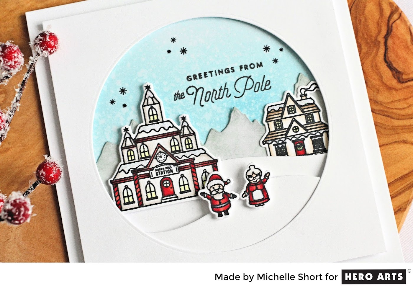 I Decided To Create A Little North Pole Scene For My Card Today. Please  Head Over To The Blog Post For More Details On How I Made It.