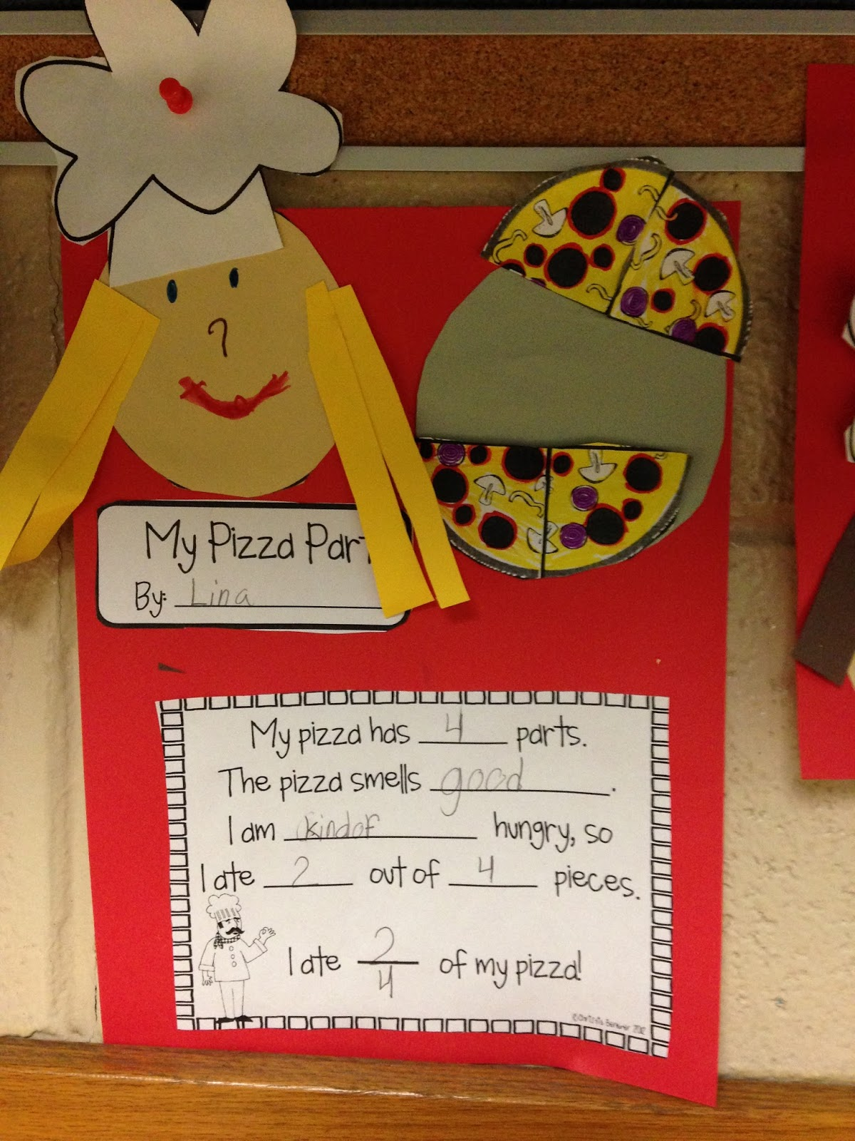 The First Grade Lunchbox Fraction Pizzas