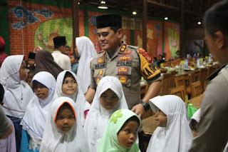 Sejumlah Awak Media Di Cirebon Berbuka Puasa Bersama Dengan Kapolres Cirebon Kota Dan Jajarannya