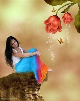 imagen mujer+amistad+mariposas