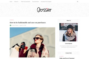 Glossier - Responsive Clean Blogger Template