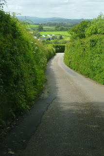One of the two approach roads to Luton in Devon