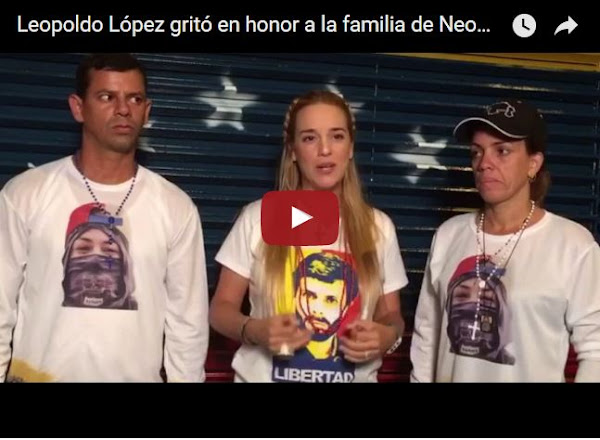 Leopoldo López grita desde su casa en apoyo a Neomar Lander