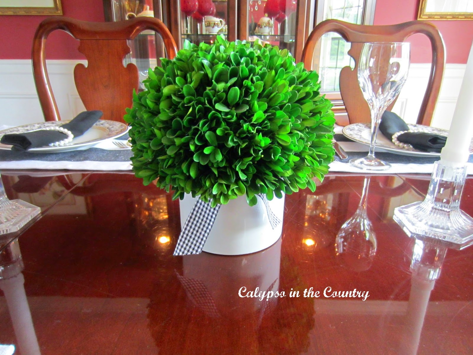 Preserved Boxwood centerpiece