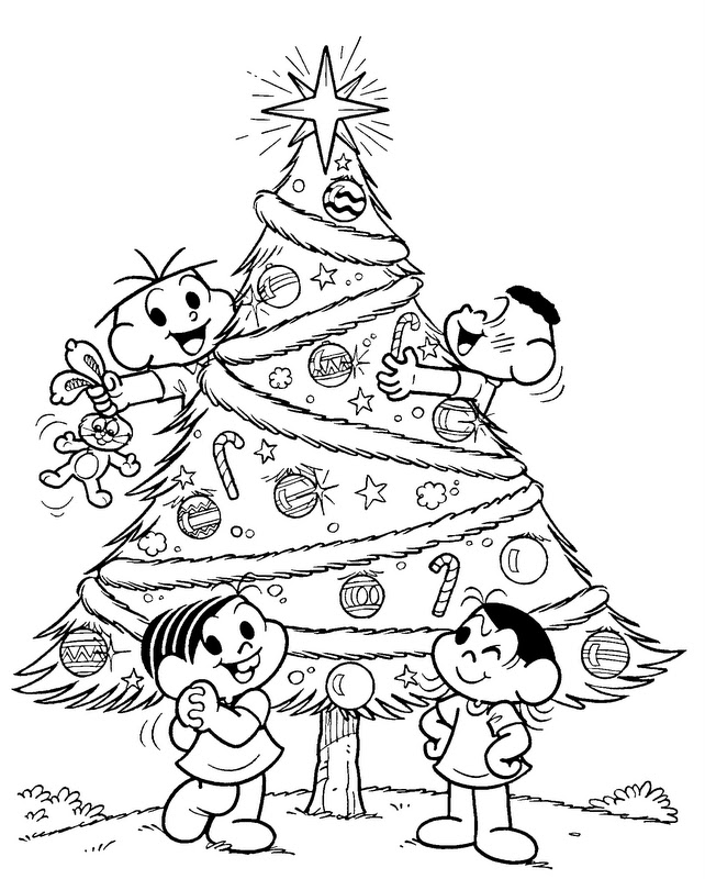 40 Desenhos E Moldes De árvore De Natal Para Colorir Pintar