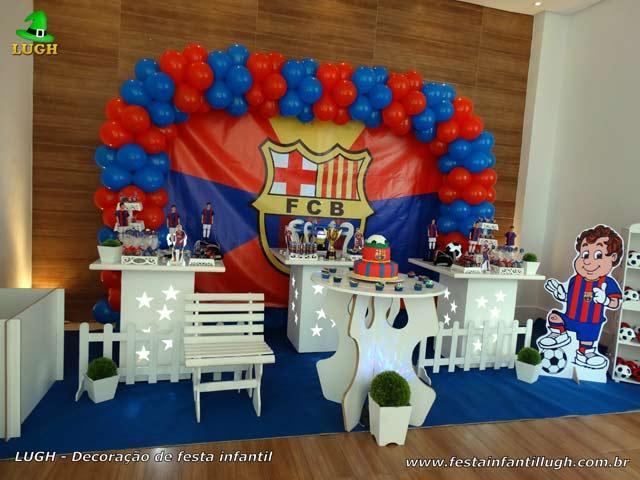Decoração para festa de aniversário infantil tema Barcelona - Decoração masculina provençal simples