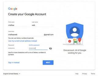 Buat Gmail tanpa menggunakan nomor HP