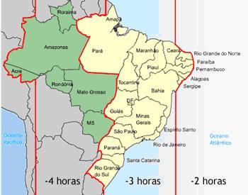 Fuso horário do Brasil