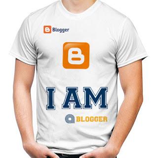 Kaos BLOGGER Keren Dengan Tampilan Profesional