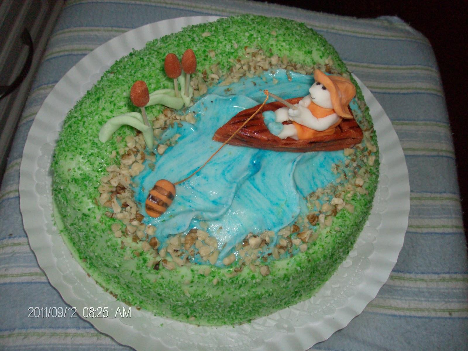 halas torták képek Gigi kreatív műhely: horgász tó torta halas torták képek