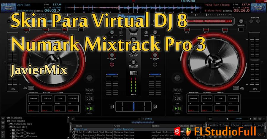 Skin para Virtual DJ 8 Numark Mixtrack Pro 3 [JavierMix]