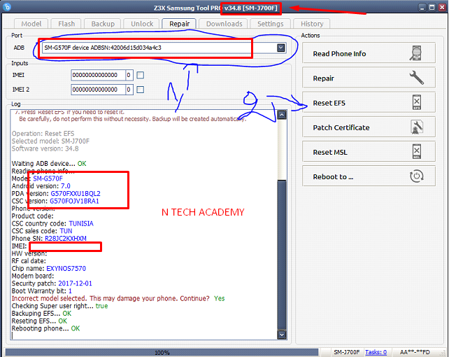 SAMSUNG SM-G570F IMEI 0000000 FIX SOLUTION 100% SUCCESS - FlashFileBd