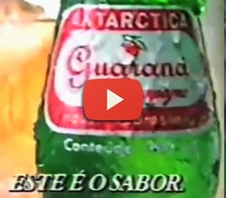 Propaganda com o jingle de sucesso: pizza e Guaraná Antártica. Ano de 1991.