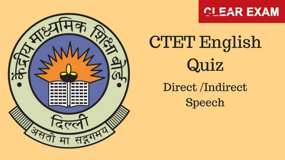 English quiz for CTET and KVS Exam