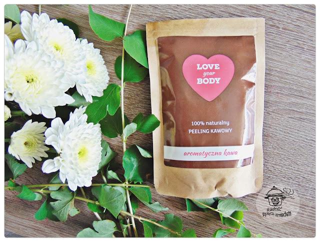 Peeling,  aromatyczna kawa - LOVE YOUR BODY.
