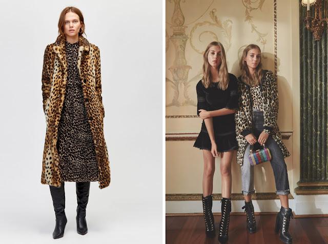 Сочетание леопардового пальто и леопардового платья