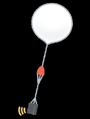 気象観測気球のイラスト