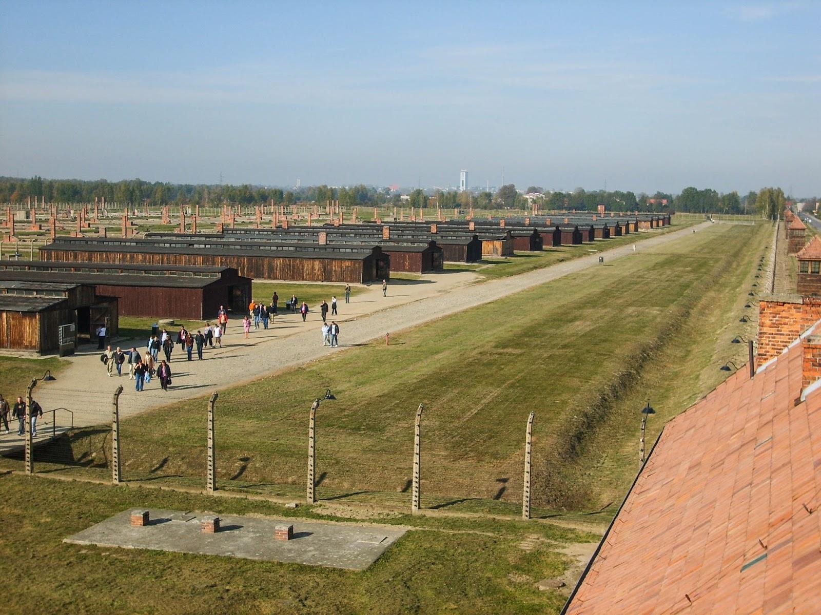 Huts in Auschwitz