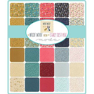 Moda Woof Woof Meow Fabric by Stacy Iest Hsu for Moda Fabrics