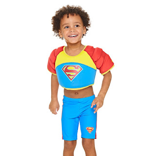 Zoggs Superman swimwear and buoyancy aids